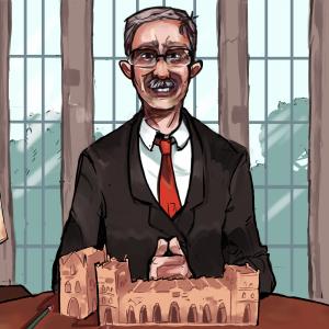 An illustration of Dean John W. Boyer