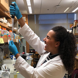Third-year Rachael Filzen conducts research on plant defense mechanisms and how certain proteins may be involved in plant stress
