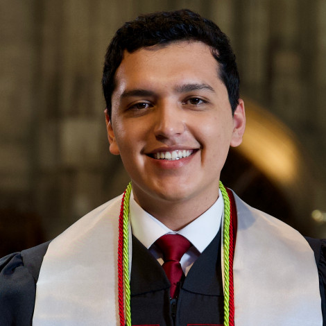 Portrait of Rodrigo Estrada in gown.