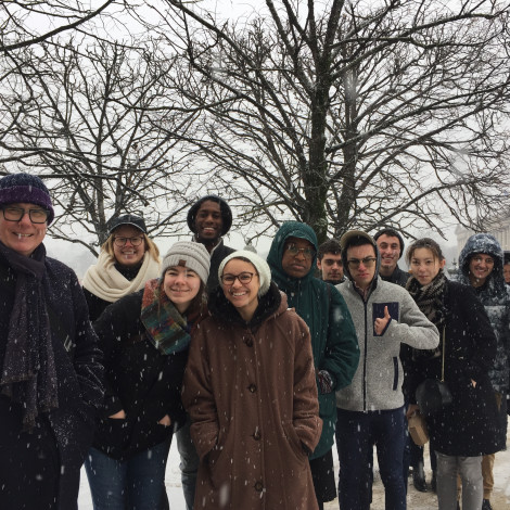 CMST students under the snow