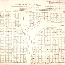plat of chicago in 1830