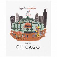 wrigley field chicago illustration