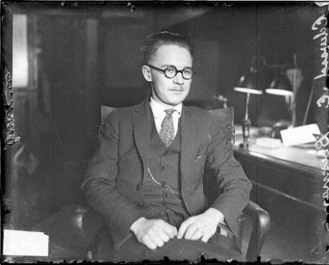 A photo of Edward P Brennan, author of the Chicago grid system