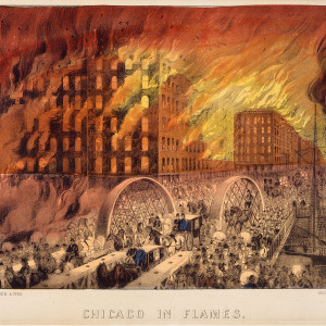 Painting of the Great Chicago Fire