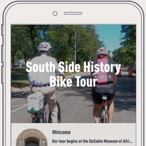 Screenshot of the tour on a phone
