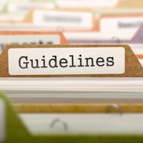 A file folder with the word guidelines on it