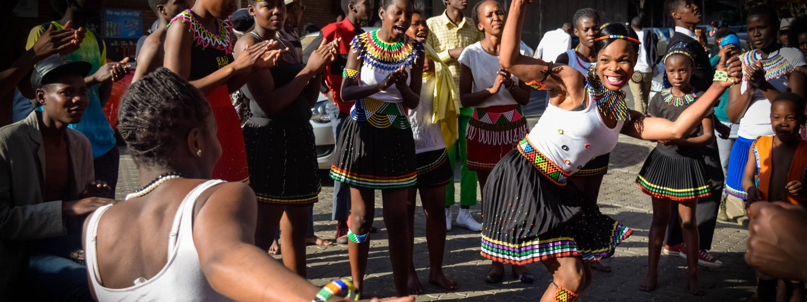 A youth dance troupe performs in Johannesburg, South Africa