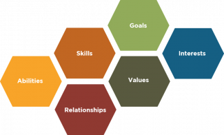 Career Factors: Abilities, skills, goals, relationships, values, interests