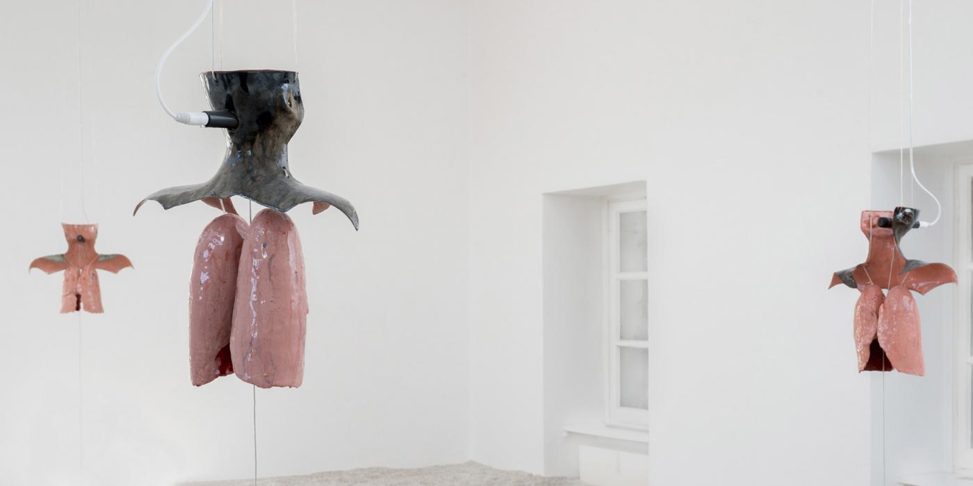 """""""Witness I-III"""", installation view, Kunstverein Braunschweig, 2019"""