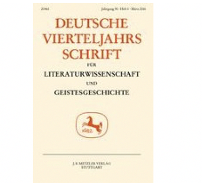 KLEIST'S 'UNSICHTBARES THEATER', ed. Christopher Wild, special issue of DEUTSCHE VIERTELJAHRSSCHRIFT FÜR LITERATURWISSENSCHAFT UND GEISTESEGESCHICHTE, Volume 87/4, December 2013.
