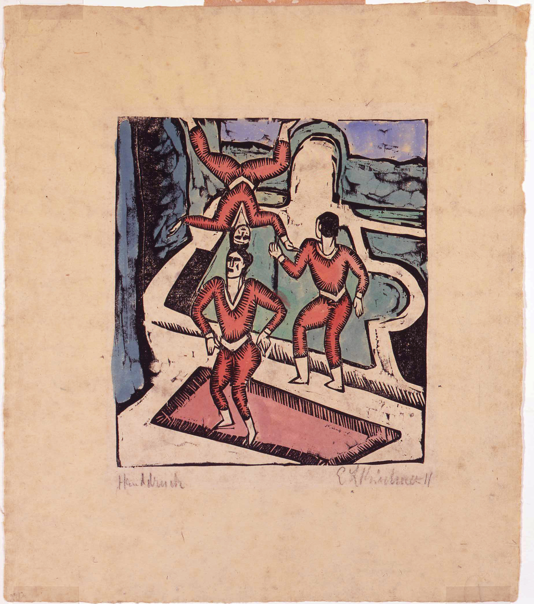 Ernst Ludwig Kirchner, Japanese Acrobats (1911) Photograph ©2020 courtesy of The David and Alfred Smart Museum of Art, The University of Chicago
