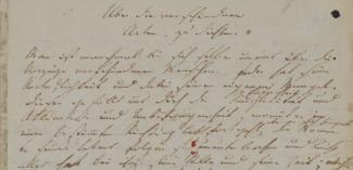 """Friedrich Hölderlin, """"Über die verschiedenen Arten zu dichten"""" (Württembergische Landesbibliothek Stuttgart)"""