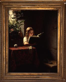 "​​​​​​​Johann Georg Meyer von Bremen, ""Young Girl Reading"" (1868). Courtesy of the Smart Museum of Art."