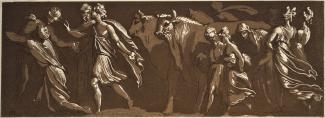 "Conrad Martin Metz, ""Three Horsemen in Roman Costume"" (1791). Courtesy of the Smart Museum of art."
