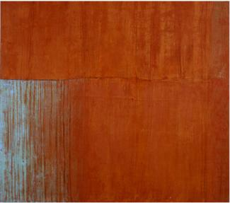 """Brigitte Riesebrodt, """"Oxydation Pelander 2"""" (2004) oil and wax on canvas. Courtesy of the artist."""