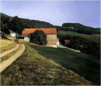 """Gerhard Richter, """"Scheune"""" (1984), oil on canvas. Courtesy of the artist."""