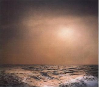 "Gerhard Richter, ""Seestück, braun, bewegt"" (1969), oil on canvas. Courtesy of the artist."
