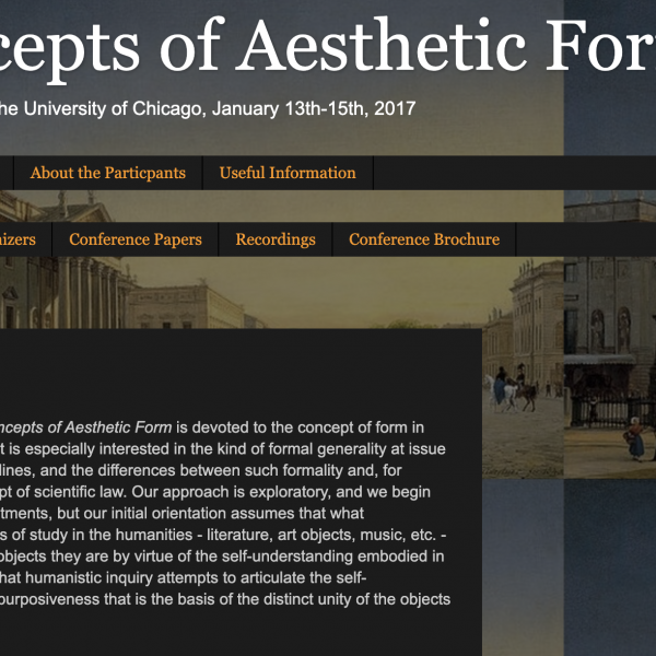 Concepts of Aesthetic Form
