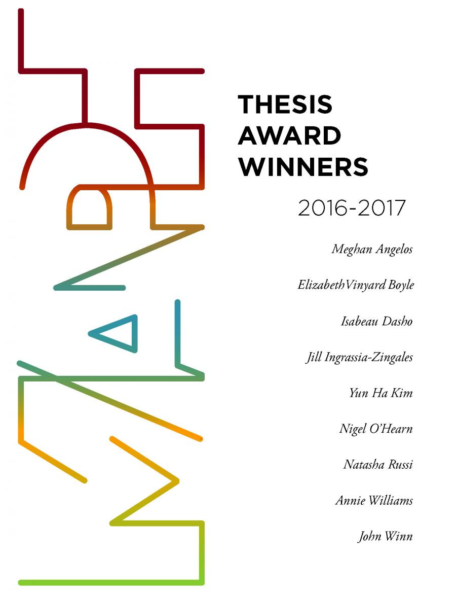 2016-17 Thesis Award Winners with Colorful MAPH Logo