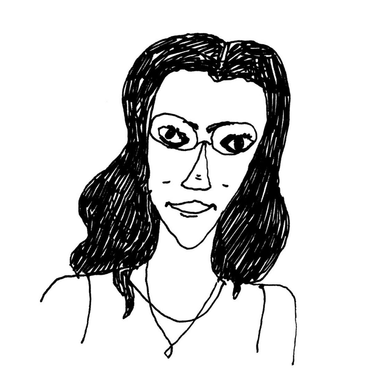 Illustration of Tahneer Oksman by Liana Finck