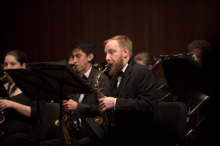 Members of the University Wind Ensemble