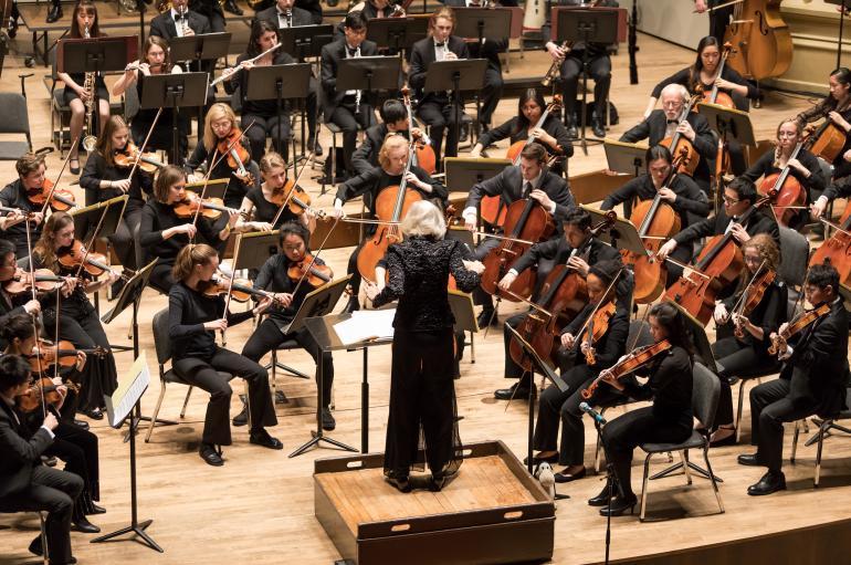 University Symphony Orchestra led by Maestra Barbara Schubert