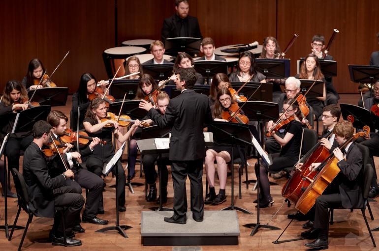 The University Chamber Orchestra led by Matthew Sheppard
