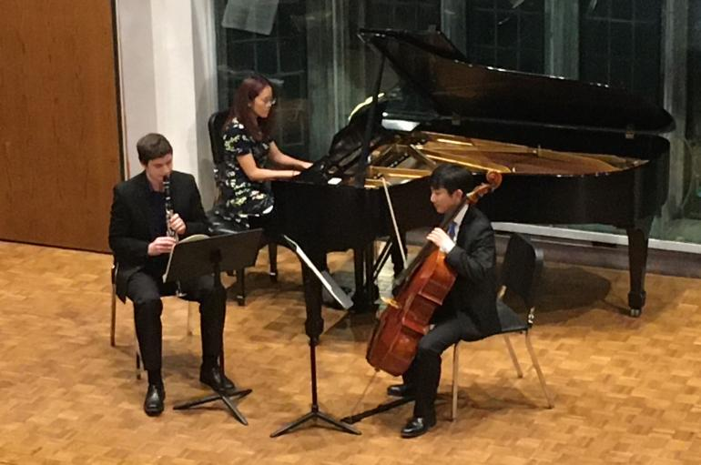 Chamber Music Program students performing in Fulton Recital Hall