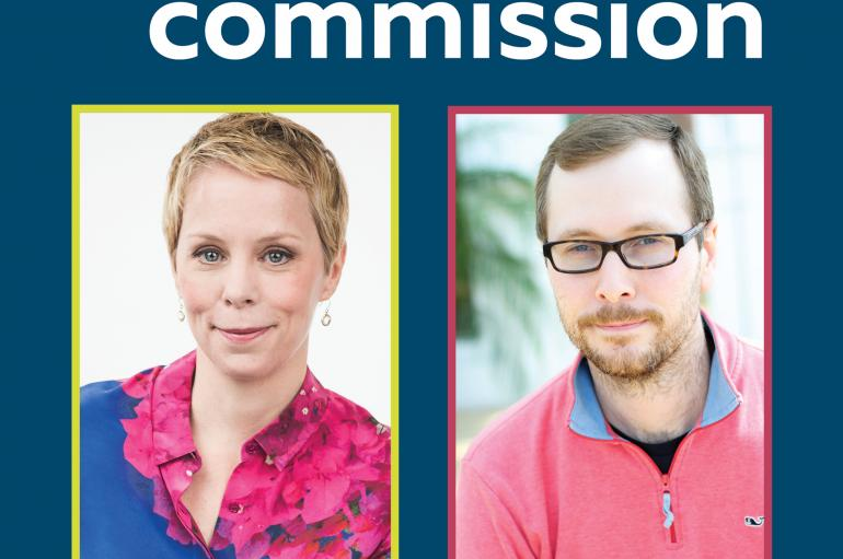 Mission Commission graphic with Augusta Read Thomas and John Corkill