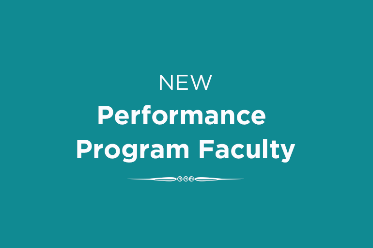 Performance Program Faculty graphic