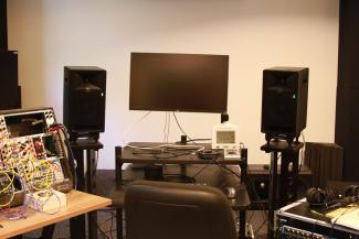 The computer music studio at the University of Chicago
