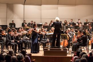 Photo from the 2018 Concerto Showcase with the University Symphony Orchestra
