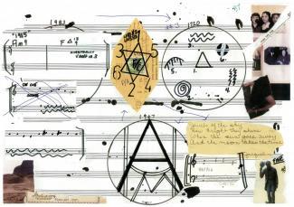 Graphic score by Matana Roberts
