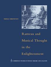 "Cover art for ""Rameau and Musical Thought in the Enlightenment"""