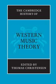 "Cover art for ""Cambridge History of Western Music Theory"""
