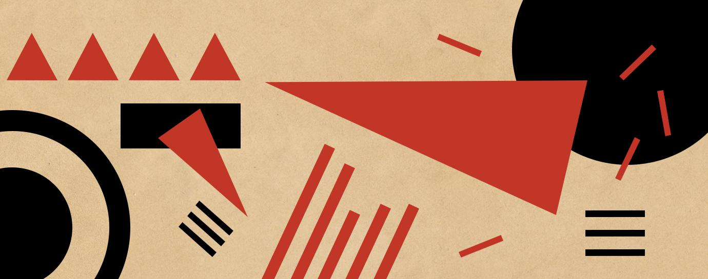 Soviet style abstract graphic art