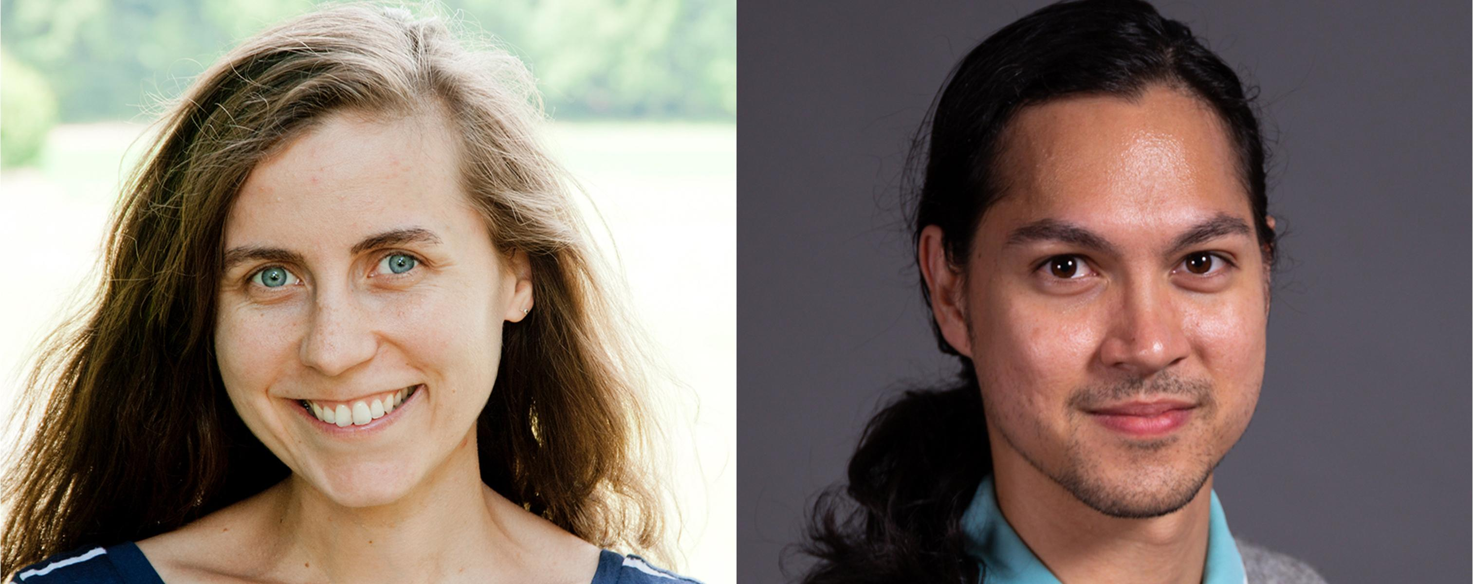 Barbara Dietlinger and Andrew White headshots