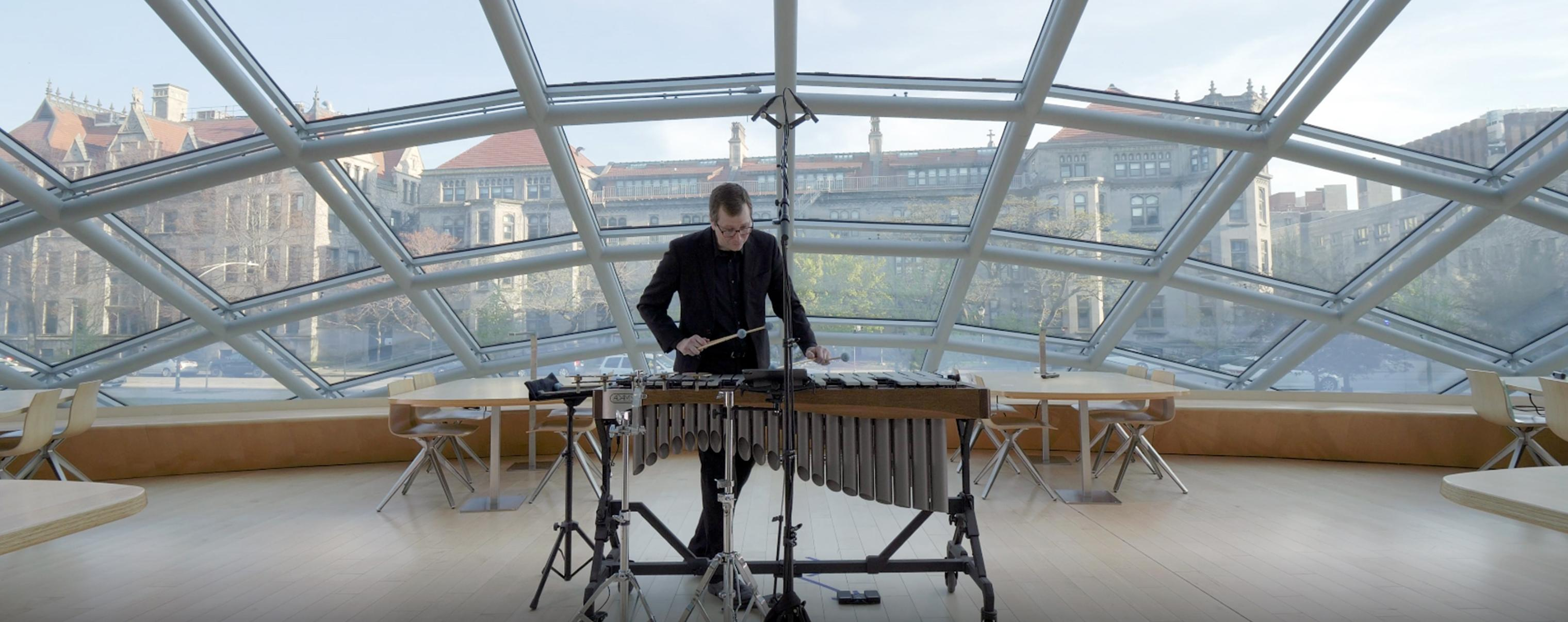 Hyde Park Herald praises John Corkill's SOUND/SITES performance as inventive and unique