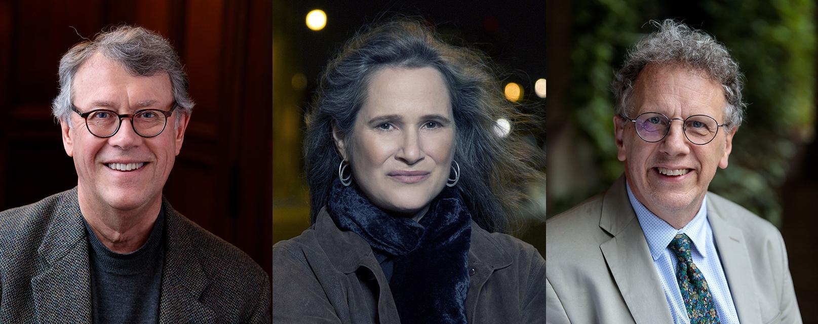 From left to right, Philip Bohlman, Martha Feldman, and Robert Kendrick headshots