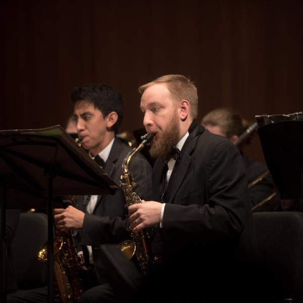Members of the University Wind Ensemble