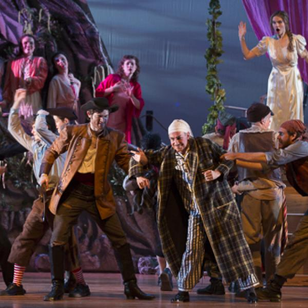 Performance photo from the 2013 production of The Pirates of Penzance by the Gilbert & Sullivan Opera Company