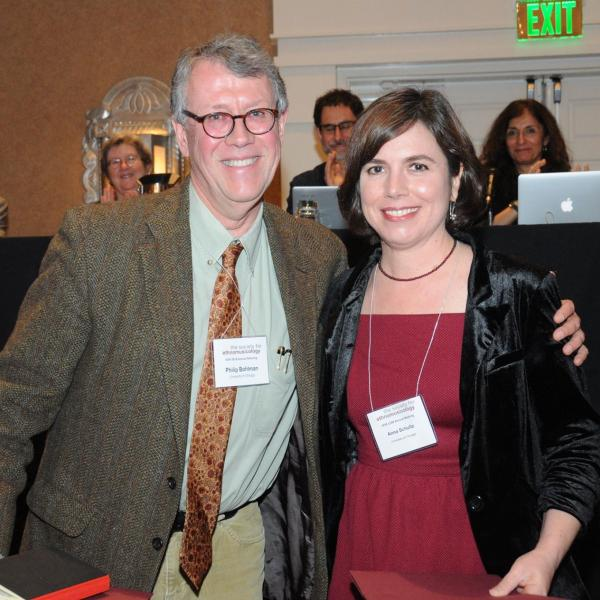 Professor Philip Bohlman and Associate Professor Anna Schultz at the 2018 Society for Ethnomusicology annual meeting