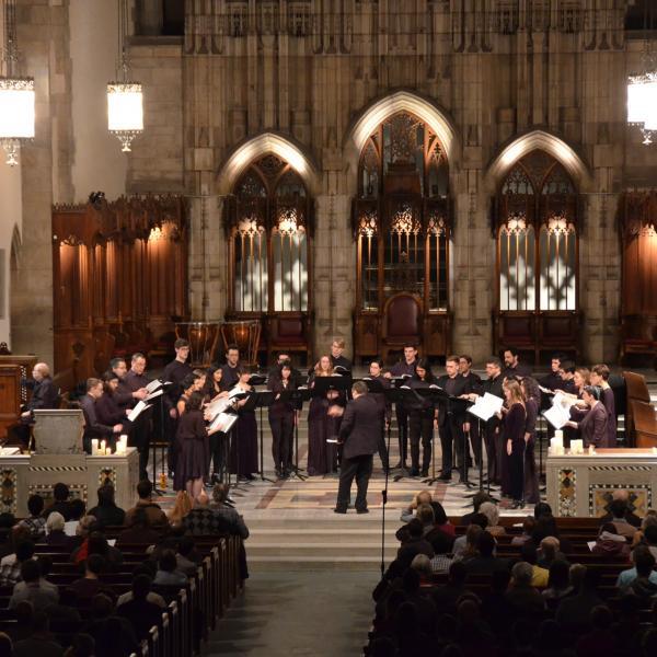 Rockefeller Chapel Choir in performance