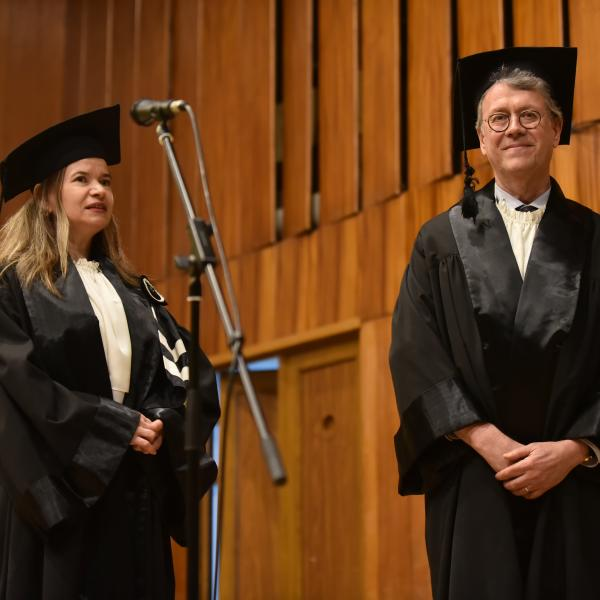Phillip Bohlman being presented honorary doctorate