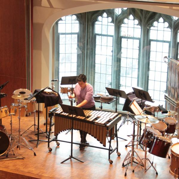 Percussion Ensemble in performance