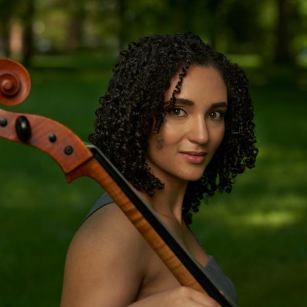 Anita Graef with her cello