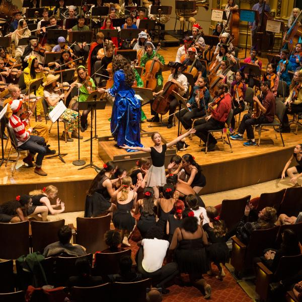 University Symphony Orchestra & Hyde Park School of Dance in performance