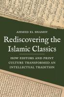Rediscovering Islamic Classics