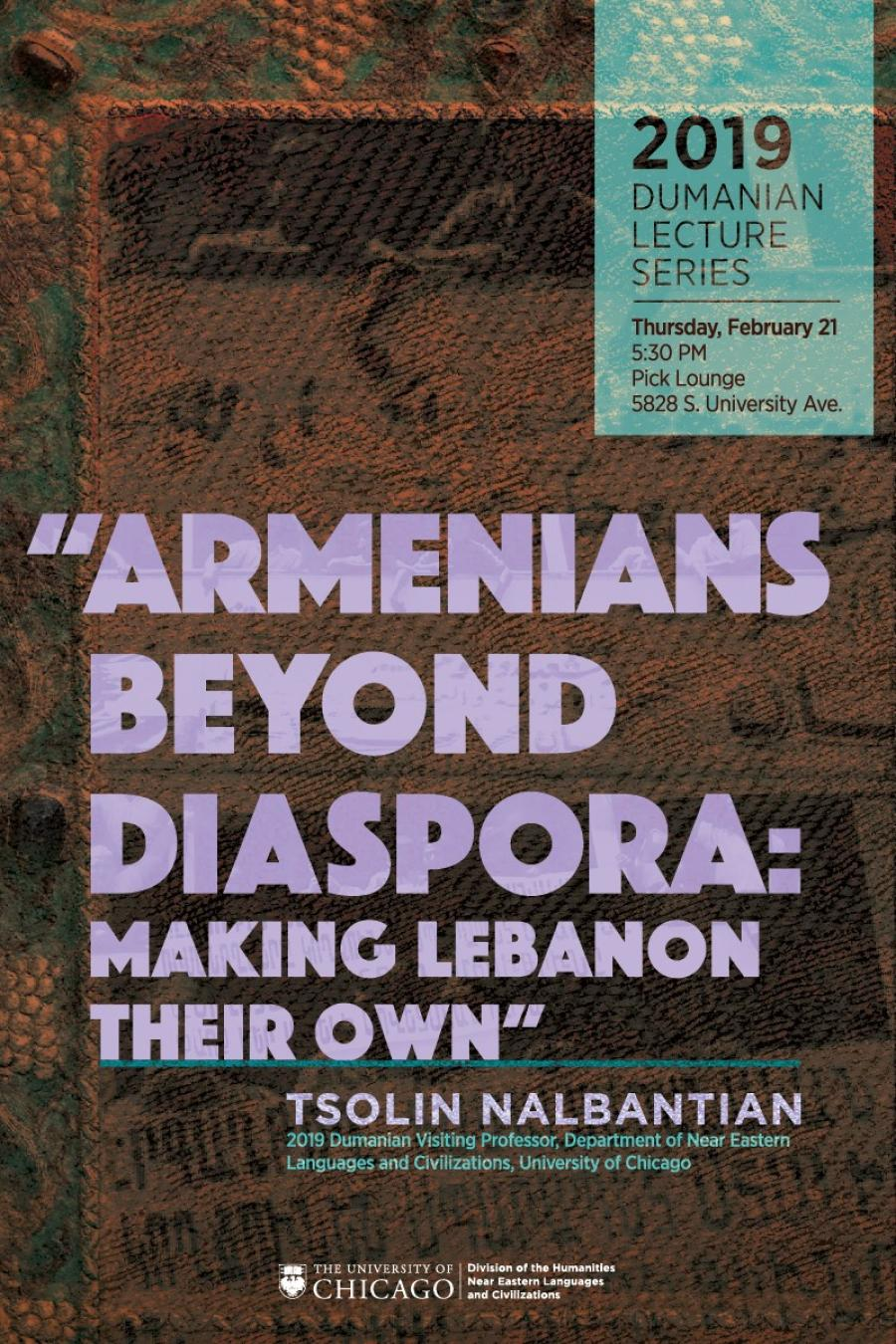2019 Dumanian Lecture with Tsolin Nalbantian