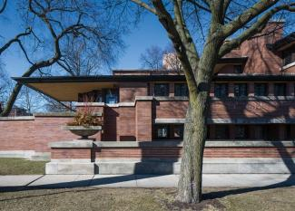 Frank Lloyd Wright's Robie House (on the University of Chicago campus)
